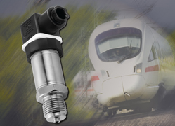 Pressure transmitters for railway applications