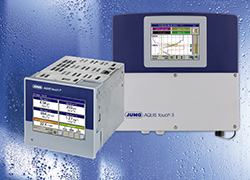 Ideal for Panel Mounting - The new JUMO AQUIS touch P – a compact multichannel measuring device for liquid analysis