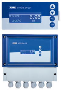 JUMO dTRANS pH 02 - Compact multichannel transmitter/controller for pH, redox, ammonia, standard signals, and temperature (202551)
