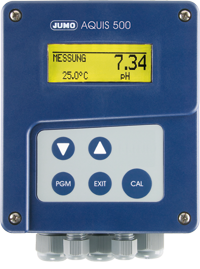 JUMO AQUIS 500 pH - transmitter / controller for pH, ORP, NH3 (ammonia) concentration and temperature (202560)