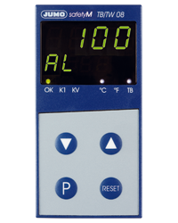 JUMO safetyM TB/TW08 Temperature Limiter and Temperature Monitor According to DIN EN 14597